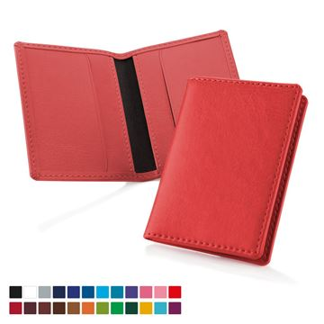 Picture of Credit Card Case in a choice of Belluno Colours in Belluno, a vegan coloured leatherette with a subtle grain.