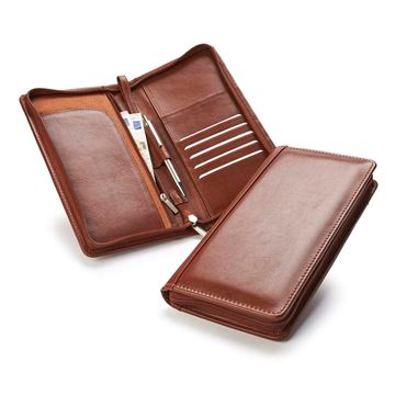 Picture of Accent Sandringham Nappa Leather Colours, Zipped Travel Wallet