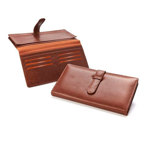 Picture of Accent Sandringham Nappa Leather Colours, Deluxe Travel Wallet with Strap