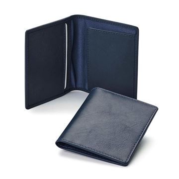 Picture of  Accent Sandringham Nappa Leather  Slimline City Wallet, with accent stitching in a  choice of black, navy or brown.