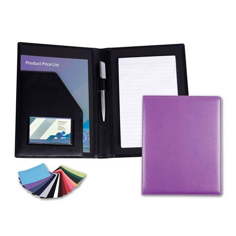 Picture of A5 Conference Folder in Belluno, a vegan coloured leatherette with a subtle grain.