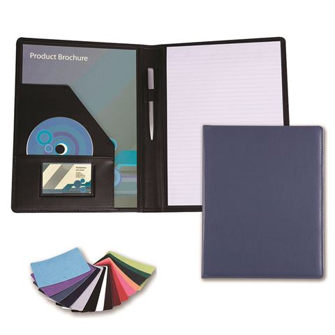Picture of A4 Conference Folder in Belluno, a vegan coloured leatherette with a subtle grain.