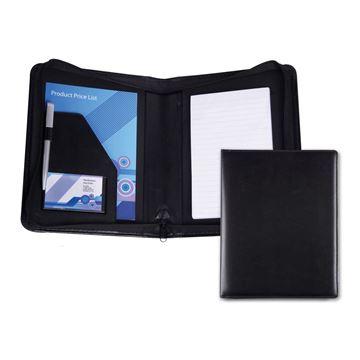 Picture of Black Belluno PU A5 Zipped Conference Folder