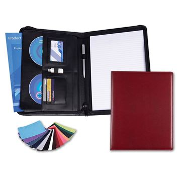 Picture of A4 Deluxe Zipped Conference Folder in Belluno, a vegan coloured leatherette with a subtle grain.