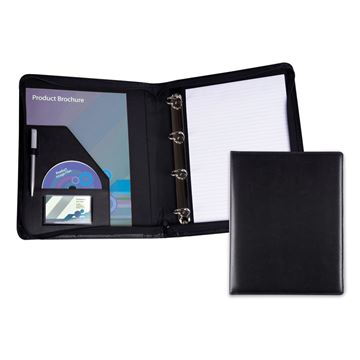 Picture of Zipped A4 Ring Binder in Belluno, a vegan coloured leatherette with a subtle grain.