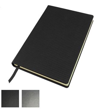 Picture of Carbon Fibre Textured A5 Casebound Notebook