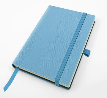 Picture of Exotic Textured  Pocket Casebound Notebook with Elastic Strap & Pen Loop