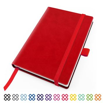 Picture of Torino Vegan Soft Touch Pocket Casebound Notebook with Elastic Strap & Pen Loop