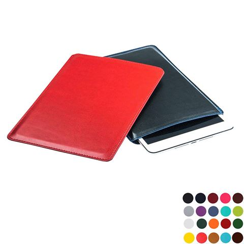 Picture of Mini Tablet Sleeve in Belluno, a vegan coloured leatherette with a subtle grain.
