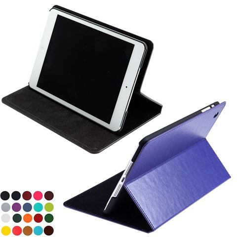 Picture of Mini Tablet Case & Stand in Belluno, a vegan coloured leatherette with a subtle grain.