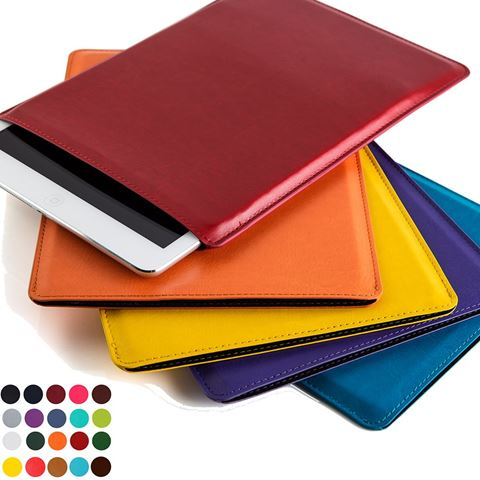 Picture of Medium Tablet Sleeve in Belluno, a vegan coloured leatherette with a subtle grain.