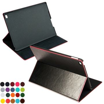 Picture of Tablet Case & Stand in Belluno, a vegan coloured leatherette with a subtle grain.