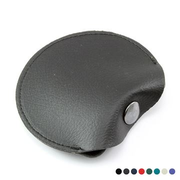 Picture of Recycled ELeather Coin  or Ear Bud Pouch, made in the UK in a choice of 8 colours.
