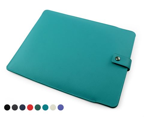 Picture of Recycled ELeather iPad Pro Tablet Sleeve, made in the UK in a choice of 8 colours.
