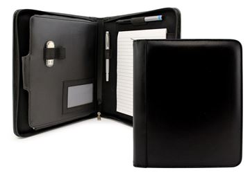 Picture of Deluxe Sandringham Nappa Leather Compendium Folder with iPad or Tablet Pocket