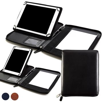 Picture of Accent Sandringham Nappa Leather Colours A5 Zipped Adjustable Tablet Holder