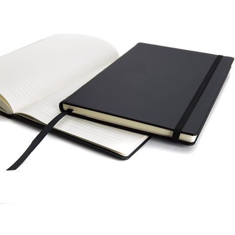 Picture of Black Torino A5 Casebound Notebook with an Elastic Strap