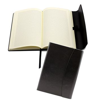 Picture of Black Belluno PU A5 Magnet Notebook