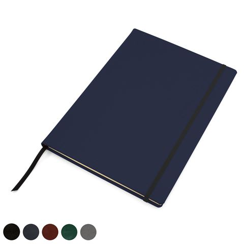 Picture of Hampton Leather A4 Casebound Notebook with Elastic Strap, made in the UK in a choice of 6 colours.