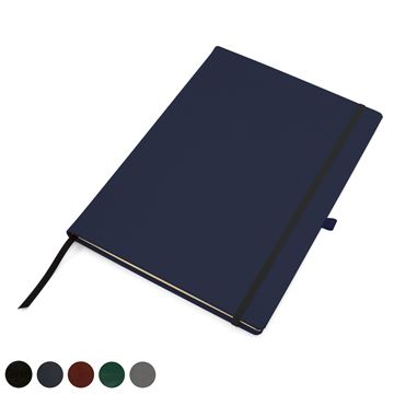 Picture of Hampton Leather A4 Casebound Notebook with Elastic Strap & Pen Loop, made in the UK in a choice of 6 colours.