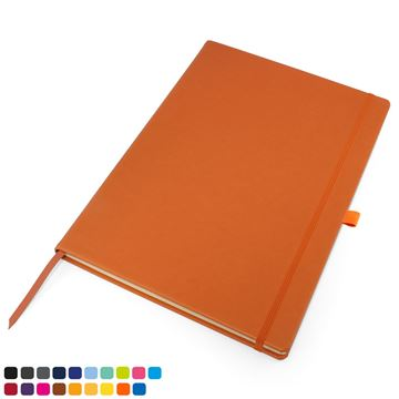 Picture of Torino Vegan Soft Touch A4 Casebound Notebook with Elastic Strap & Pen Loop