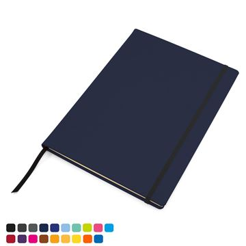 Picture of Torino Vegan Soft Touch A4 Casebound Notebook with Elastic Strap