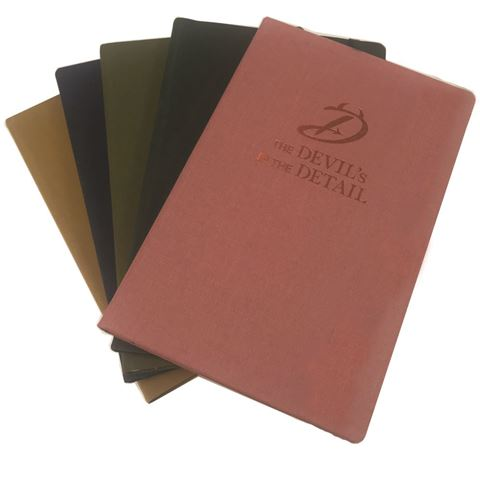 Picture of Brillianta Linen A5 Casebound Notebook in a Spectrum of colours