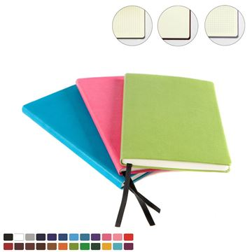 Picture of Belluno A5 Casebound Notebook choose from 20 colours in vegan Belluno.