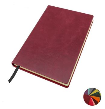 Picture of Coloured  Kensington Distressed Leather A5 Casebound Notebook