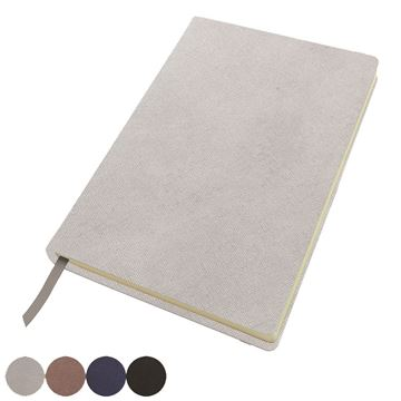 Picture of A5 Casebound Notebook in textured Saffiano in 4 metallic colours.