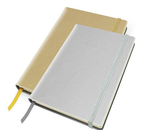 Picture of Metallic Leather Look A5 Casebound Notebook with Elastic Strap