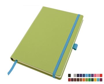 Picture of Deluxe Mix & Match A5 Belluno Casebound Notebook, thousands of colour combinations.