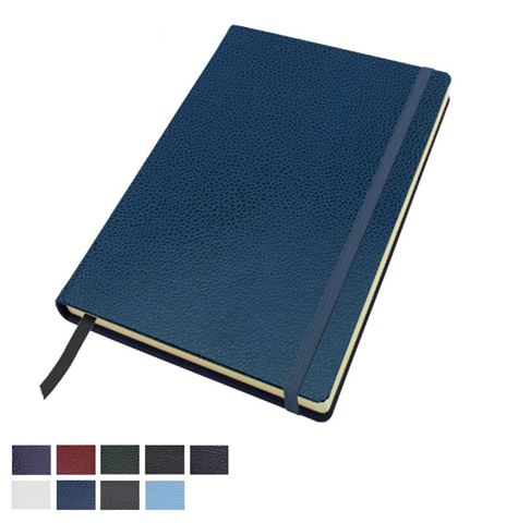 Picture of Exotic Textured  A5 Casebound Notebook with Elastic Strap