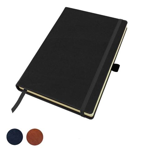 Picture of Sandringham Nappa Leather Colours, A5 Casebound Notebook with Elastic Strap & Pen Loop