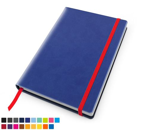 Picture of Torino Vegan soft Touch Casebound Notebook with Elastic Strap