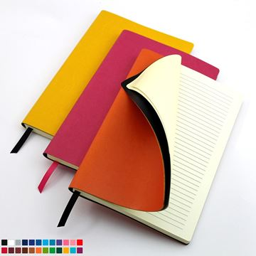 Picture of A5 Flexi Notebook in a choice 20 colours of vegan Belluno