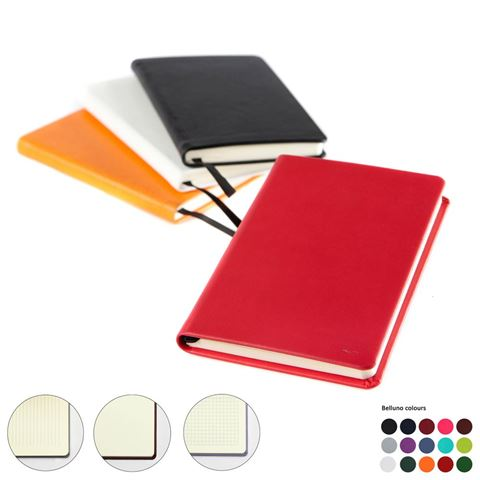 Picture of Pocket Casebound Notebook, choose from 20 colours in vegan Belluno.