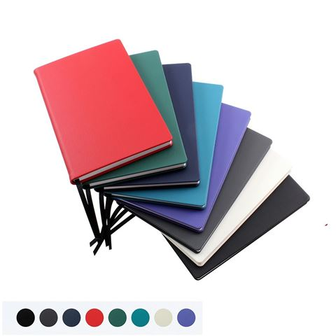 Picture of Recycled ELeather Pocket Casebound Notebook, made in the UK in a choice of 8 colours.