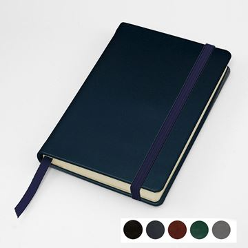 Picture of Hampton Leather Pocket Casebound Notebook with Elastic Strap, made in the UK in a choice of 6 colours.