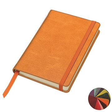Picture of Kensington Distressed Leather Pocket Casebound Notebook with Elastic Strap