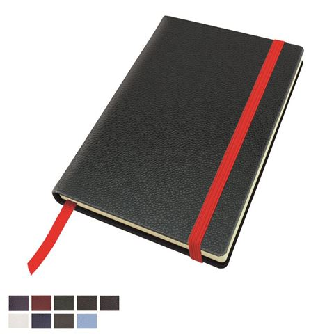 Picture of Exotic Textured  Pocket Casebound Notebook with Elastic Strap