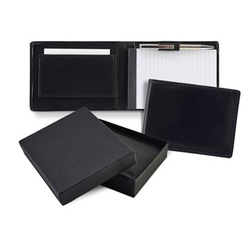 Picture of Sandringham Nappa Leather Flip Up Notepad Jotter with Pen
