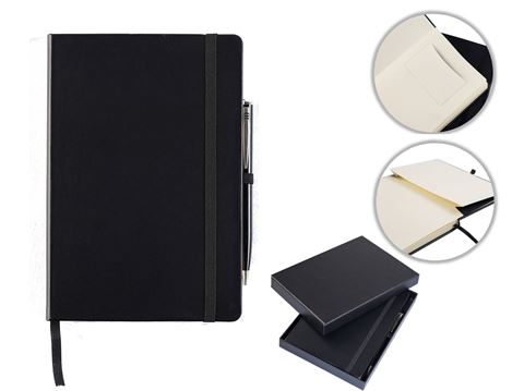 Picture of Houghton A5 Casebound Notebook with Pen & Box