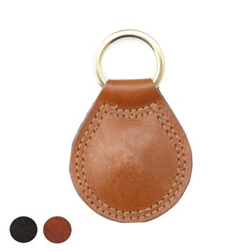 Picture of Richmond Large Teardrop Key Fob finished in high quality Nappa leather.