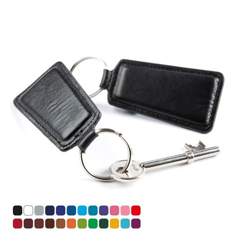 Picture of Trapeze Key Fob, in Belluno, a vegan coloured leatherette with a subtle grain.