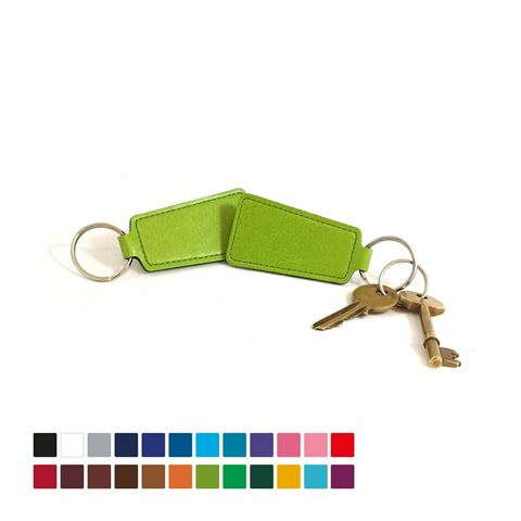 Picture of Economy Trapeze Key Fob, in Belluno, a vegan coloured leatherette with a subtle grain.