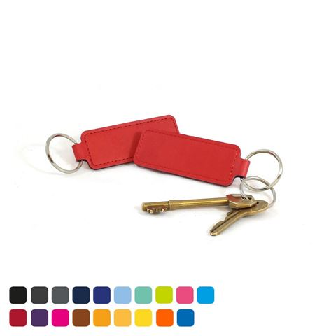 Picture of Economy Rectangular Key Fob in Soft Touch Vegan Torino PU.