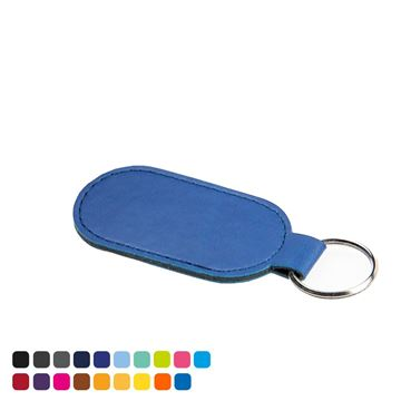 Picture of Economy Oval Key Fob in Soft Touch Vegan Torino PU.