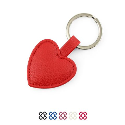 Picture of Heart Shaped key Fob in recycled Como, a quality vegan PU.
