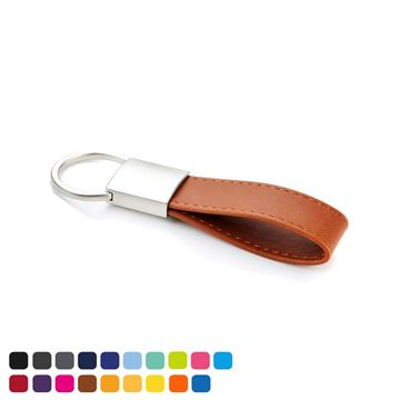 Picture of Deluxe Mini Loop Key Fob with a Twist Action Ring in Soft Touch Vegan Torino PU.